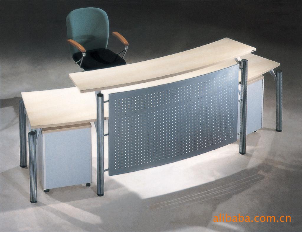 公司前台接待台钢架办公桌 - 襄阳立而美家具有